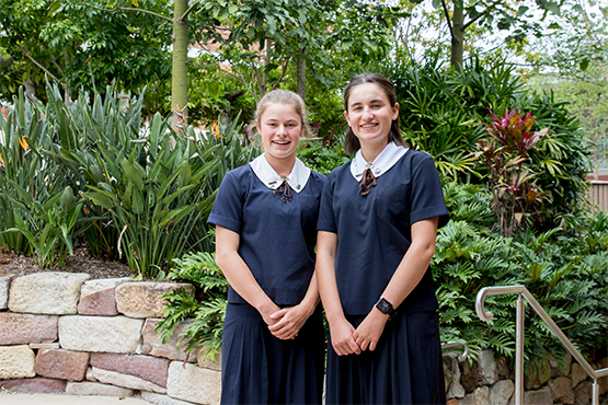 St Margaret's 2019 Boarder Captains Bella Gray and Gabriella Sedgwick