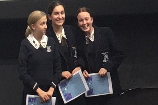 St Margaret's Year 12 team in the Churchie Literature Challenge took out third place.