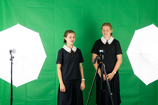 St Margaret's students are using green screen technology in the classroom