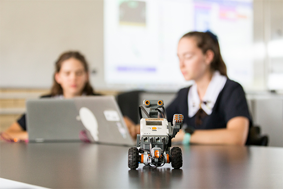 St Margaret's students are learning the basics of coding in Robotics Club