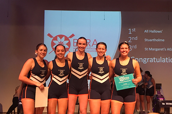 St Margaret's triumphs at indoor rowing championships