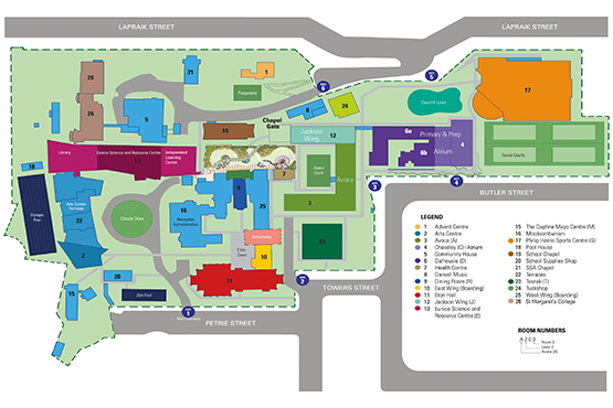 school campus map