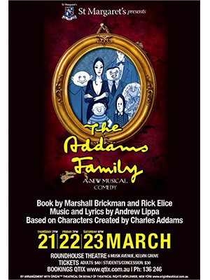 eNews Issue 5 2019 The Addams Family logo